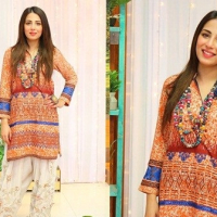 Actress Ushna Shah in Shalwar Kameez