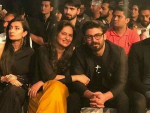 Fawad Khan with his wife at PSFW 2017