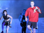 Justin Bieber Returns after Concert in India
