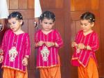 Danish Taimoor and Ayeza Khan with their daughter Hoorain on Eid