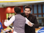 "Humayun Saeed at ""Jeeto Pakistan"" in Black Shalwar Kameez"