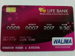 Wedding invitation through Credit Card