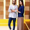 "Model Anum Fayyaz with her Husband in ""Jago Pakistan Jago"""
