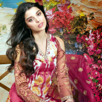 Gul Ahmed's premium embroidered Chiffon Collection