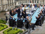 Enjoy Meal in 'Dinner In the Sky' in Brussels