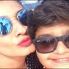 Raveena Tandon Selfie with Son