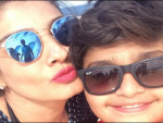 Raveena Tandon Selfie with Son