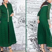 Increase in Online Sale of Green and White Dresses
