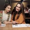Aiman Khan, Minal Khan and Hanish Qureshi seen together in a Restaurant