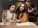Aiman Khan, Minal Khan and Hanish Qureshi seen together in a Restaurant
