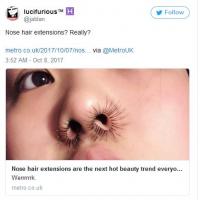 Nose Hair Growing Fashion