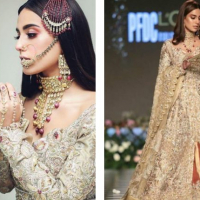 Iqra Aziz on Ramp for Zainab Salman at PLBW 18