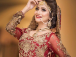 Zarnish Khan Bridal Photo shoot for Faiza Salon
