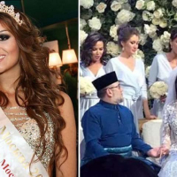 Malaysian King Leaves Thorns on Wedding with Miss Moscow