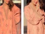 Neelum Muneer in Asim Jofa Pink Outfit