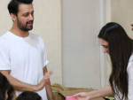 Atif Aslam & Sara Bharwana SOS Village Latest Pictures