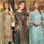 Ramsha Embroidered Chiffon Collection 2019