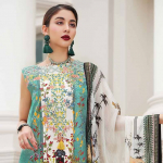 Gul Ahmad LAMIS Digital Charmeuse Silk Collection 2019