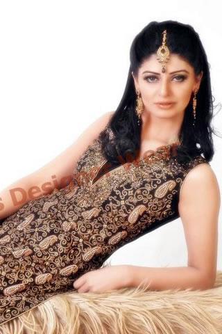 Hot Model in Black gold dress by Rani Emmaan
