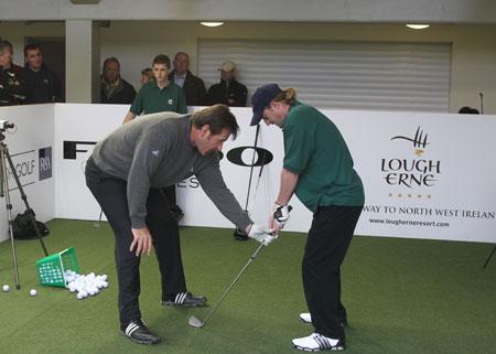 Blind Golf Training