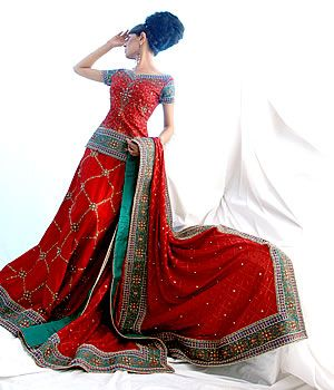 Bridal Dress in Red Colour