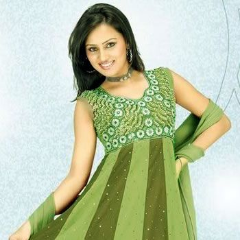 Cute Girl in Fresh Green Dress