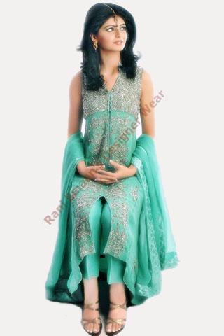 Gorgeous Girl in Fresh Green dress by Rani Emman