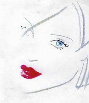 Girl Sketch for Lips