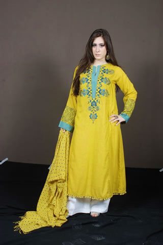 Gorgeous Pakistani Model in Fresh Yellow Dress