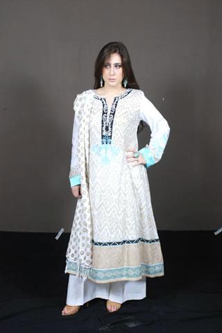 Desi Pakistani Model in White Dress