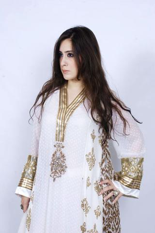 Hot Pakistani Model in White Dress