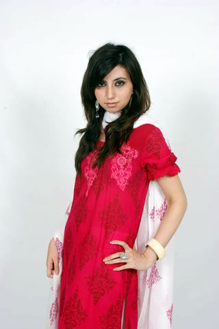Beautiful Pakistani Girl in Red Dress