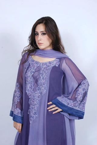 Hot Pakistani Girl in Maria B. Blue Dress