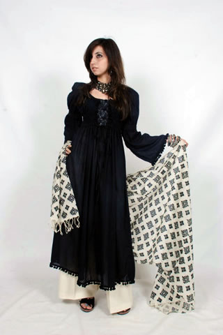 Hot Girl in Maria B. Eid Collection Black Dress