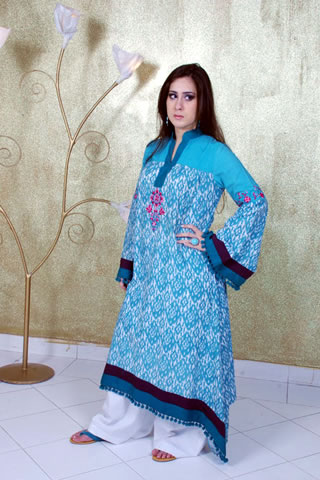 Sweet Girl in Maria B. Eid Collection Blue Dress