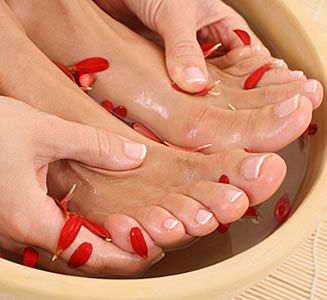 Nails With Red Patells