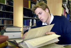 Prince William Studying