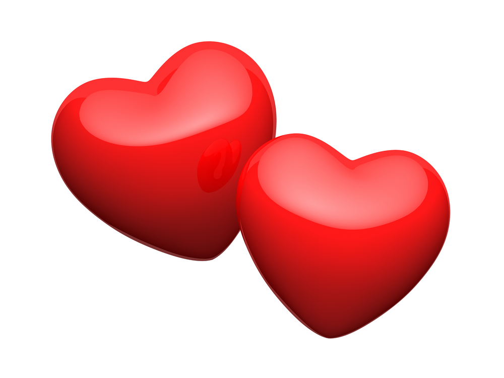 Red Heart Couple