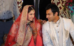 Sania and Shoaib in Wedding Ceremoney