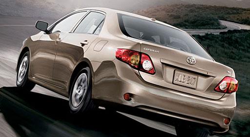 Toyota Corolla 1.3L GLi Back View