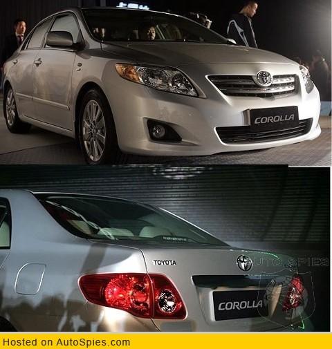Toyota Corolla 1.3L GLi Front & Back View