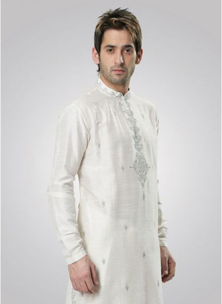 White Kurta Eid Dress for Men