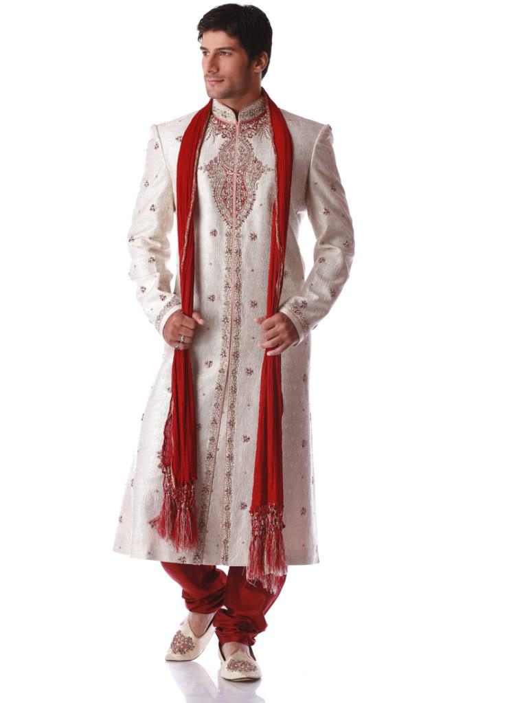 White Sherwani For Pakistani Groom Wear