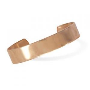 12.5mm Polished Solid Copper Cuff Bracelet