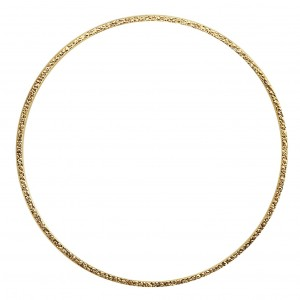 14K Gold Filled Textured Bangle