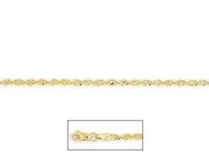 14K Gold Sparkle Twist Anklet