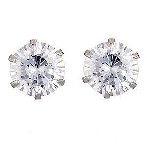 9ct White Gold 5mm Cubic Zirconia Stud Earrings