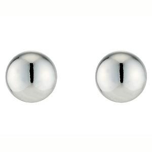 9ct White Gold Ball Stud Earrings