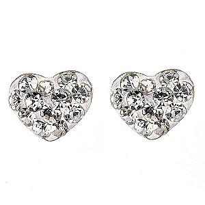 9ct Yellow Gold Love Heart Earrings