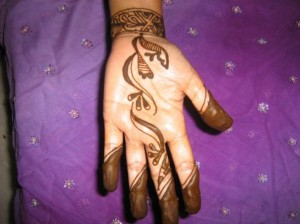 Arabic Mehndi Design for Inside Hand
